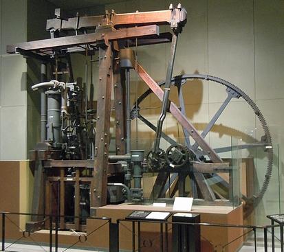 The steam engine of James Watt