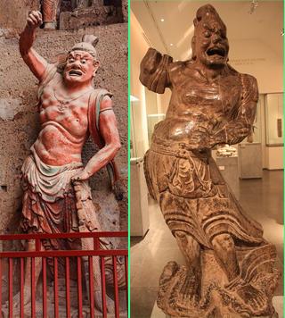 中国 金剛力士,  statues of Knogorikishi in China