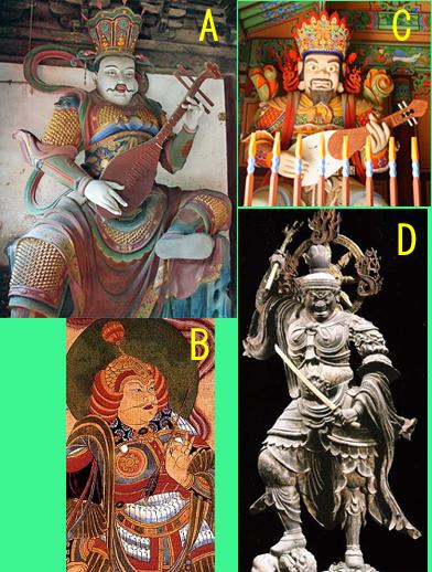 """""""持国天"""" of Four Heavenly Kings of each countries"""