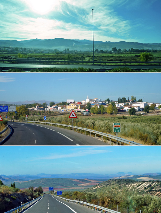 From Granada suburb to the midpoint of Granada and Ronda, 9:20-10:30