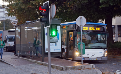 Autocarro(route bus), taken photo in the morning